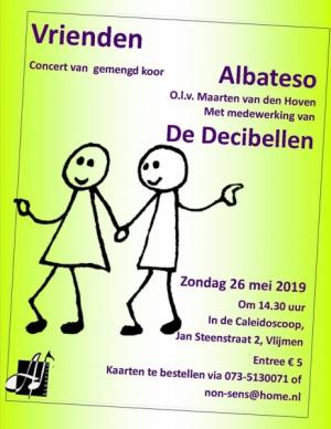 Concert van gemengd koor Albateso