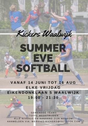 Kickers Zomeravond Softbal