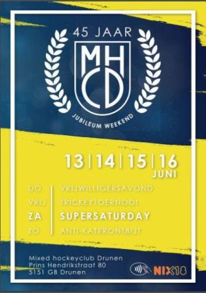 Jubileum weekend MHCD